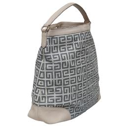 Givenchy Bicolor Monogram Coated Canvas/Leather Shoulder Bag 129671