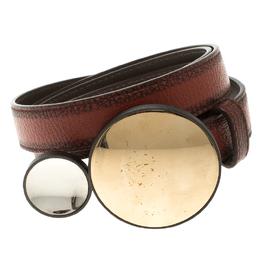 Bottega Veneta Brown Leather Sphere Buckle Belt 90cm 116003