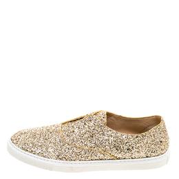 Fratelli Rossetti Gold Glitter Slip On Sneaker Size 39 120526