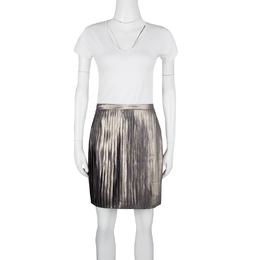 Tory Burch Metallic Pleated Audra Skirt L 125230