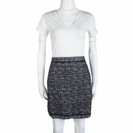 Dior Tricolor Textured Mini Skirt M 116741