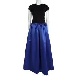 Alice + Olivia Cobalt Blue Tina Satin Maxi Skirt XS 98589