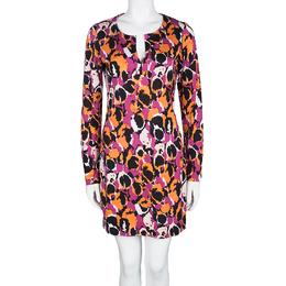 Diane Von Furstenberg Multicolor Printed Silk Jersey Reina Dress M 102421
