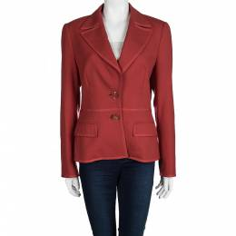 Escada Red Wool Blazer S 99083