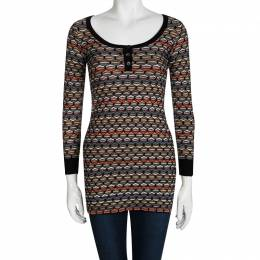 M Missoni Multicolor Patterned Sweater Tunic XS