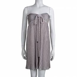 M Missoni Metallic Pink Lurex Knit Halter Dress XL