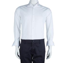 Ermenegildo Zegna White Long Sleeve Buttondown Cotton Shirt S 62406
