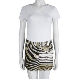 Just Cavalli Animal Printed Denim Mini Skirt  S 82944