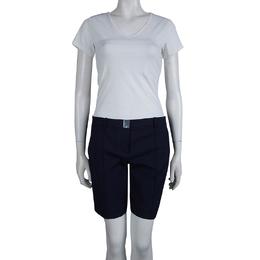 Diane Von Furstenberg Navy Blue Boymuda Shorts  M 81366