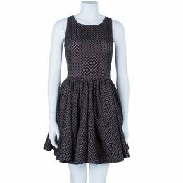Azzedine Alaia Monochrome Flare Dress M 86843
