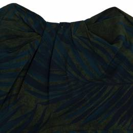 Lanvin Palm Leaf Print Cocktail Dress S 20616