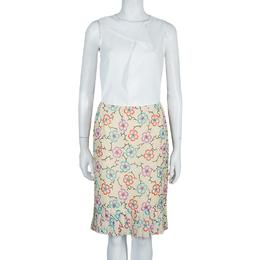 Chanel Floral Chiffon Skirt M 54458