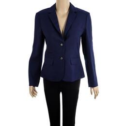 Diane Von Furstenberg Purple School Boy Blazer S 14999