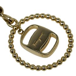 Salvatore Ferragamo Gold Pendant Keyring 54893