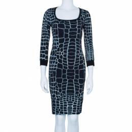 Just Cavalli Monochrome Stretch Jersey Dress M 4018