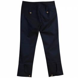 Roberto Cavalli Class Navy Blue Dual Tone Cropped Pants M 79872