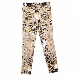Just Cavalli Multicolor Python Scale and Baroque Print Skinny Jeans M 160654