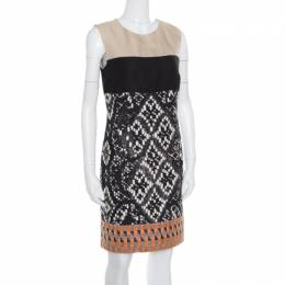 Giambattista Valli Colorblock Woven Jacquard Sleeveless Dress S 165913