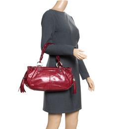 Givenchy Red Leather Drawstring Shoulder Bag 166417