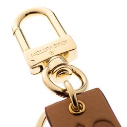 Louis Vuitton Supreme Logo Brown Leather Key Ring / Keychain