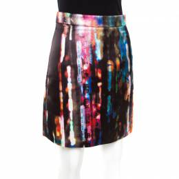MCQ by Alexander McQueen Multicolor Blurry Lights Print Skirt S 172539