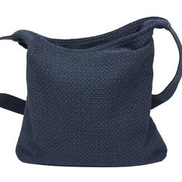 Hermes Blue Toile Canvas Messenger Bag 174437