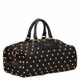 Givenchy Black Studded Nylon Satchel Bag 119439