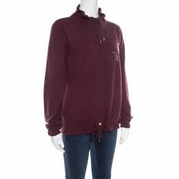 Chanel Burgundy Polo Centaur Embroidered Zip Front Jacket M 178203