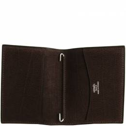 Hermes Dark Brown Nubuck Leather Agenda Cover 181349