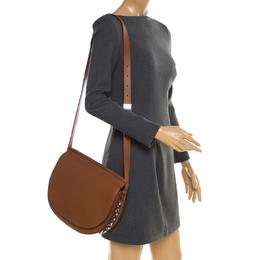 Givenchy Brown Leather Mini Infinity Saddle Bag 183939