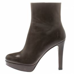 Fratelli Rossetti Brown Leather Platform Ankle Boots Size 39 185651