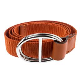 Hermes Orange Nylon Belt Size 112 CM 183648