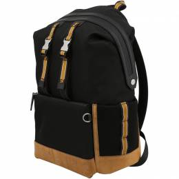 Fendi Black/Brown Nylon and Leather Backpack