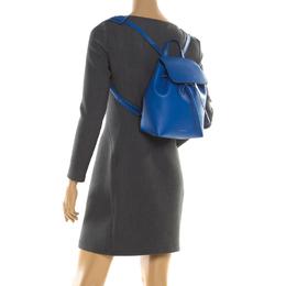 Mansur Gavriel Blue Leather Mini Backpack 196691