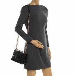 Versace Black Python Palazzo Chain Clutch Bag