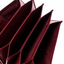 Salvatore Ferragamo Red Saffiano Leather Accordion Card Case