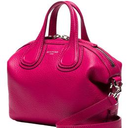 Givenchy Fuchsia Leather New Micro Nightingale Top Handle Bag 182510