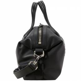 Givenchy Black Leather Small Star Mirror Rivets Nightingale Top Handle Bag 182512