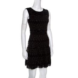 Giambattista Valli Black Floral Jacquard Knit Sleeveless Dress S 149131