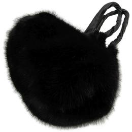 Givenchy Black Faux-Fur Pyramidal Shoulder Bag 142280