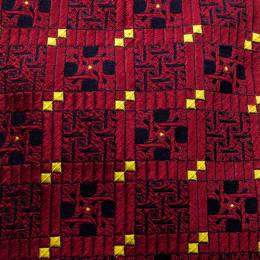 Dior Red Patterned Jacquard Silk Traditional Tie 142535