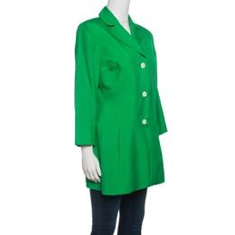 Dolce&Gabbana Green Silk Knit Coat M