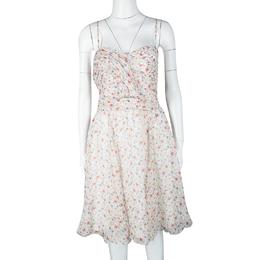 John Galliano Multicolor Floral Printed Silk Sleeveless Dress L 116157