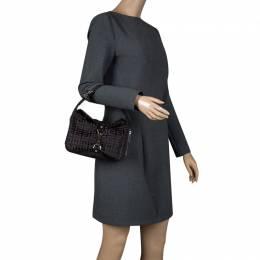 Givenchy Dark Brown Nylon Signature Bag 111572