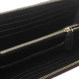Missoni Black Zigzag Embossed Leather Zip Around Continental Wallet 161416
