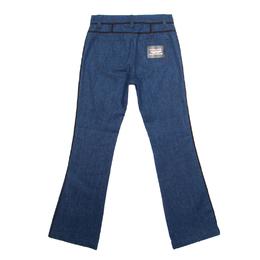 Louis Vuitton Indigo Dark Wash Contrast Piping Boot Cut Denim Jeans S 165100