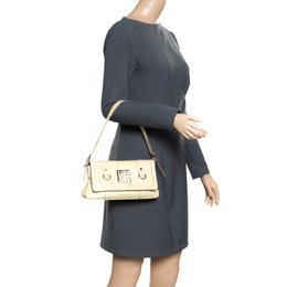 Givenchy Light Green Leather Shoulder Bag 166325