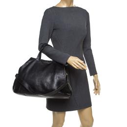 Givenchy Black Crackled Leather Top Handle Bag 177304