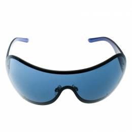 Chanel Blue 4148-B Embeliished CC Logo Shield Sunglasses 180033
