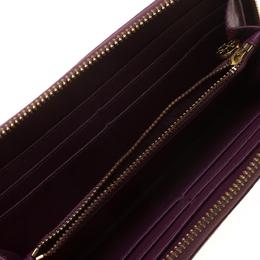 Tory Burch Burgundy Leather Zip Around Wallet 182924